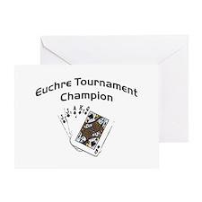 Euchre Tournament Greeting Card