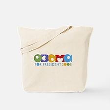 Funky I Heart Obama Tote Bag