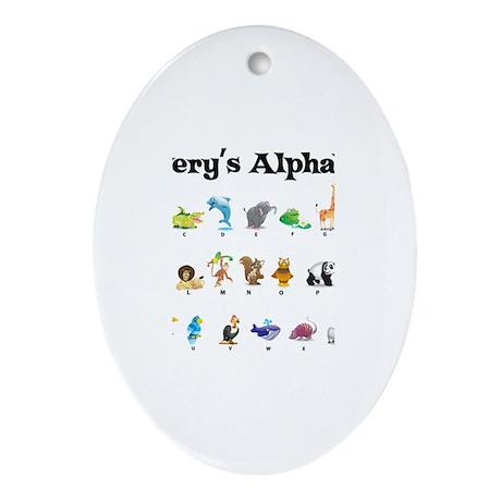 Avery's Animal Alphabet Oval Ornament