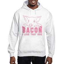 Bacon - Pink Imprint Hoodie