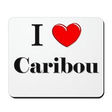 I Love Caribou Mousepad