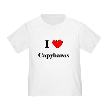 I Love Capybaras Toddler T-Shirt