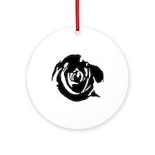 Black rose Keepsake (Round)