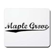 Vintage Maple Grove (Black) Mousepad