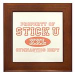 Property of Stick U Gymnastics Framed Tile