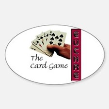 Euchre Card Game Oval Decal