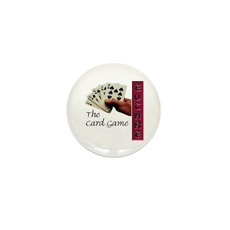 CafePress Euchre Card Game Mini Button