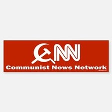 CNN - Commie News Network Bumper Car Car Sticker