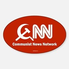 CNN - Commie News Network Oval Bumper Stickers