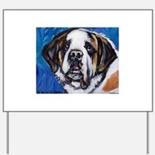 adorable Saint Bernard Yard Sign