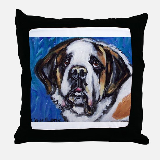 adorable Saint Bernard Throw Pillow