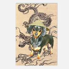 Asian Dachshund Postcards (Package of 8)