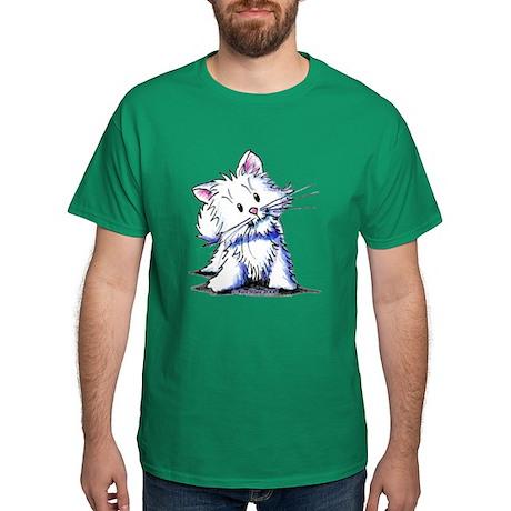 White Kitten Dark T-Shirt
