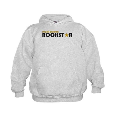 Social Worker Rockstar 2 Kids Hoodie