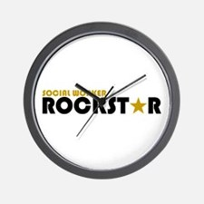 Social Worker Rockstar 2 Wall Clock
