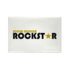 Social Worker Rockstar 2 Rectangle Magnet