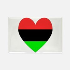 African-American Flag Heart Rectangle Magnet