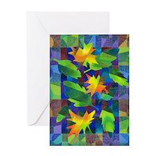 Leaf Mosaic Greeting Card