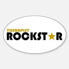 Therapist Rockstar 2 Oval Decal