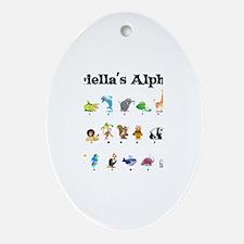 Gabriella's Animal Alphabet Oval Ornament