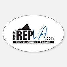 www.RepVA.com Oval Decal