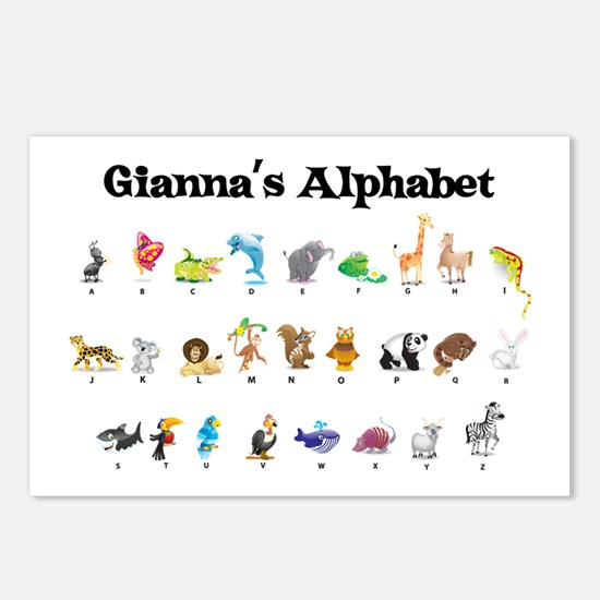 Gianna's Animal Alphabet Postcards (Package of 8)