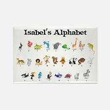 Isabel's Animal Alphabet Rectangle Magnet