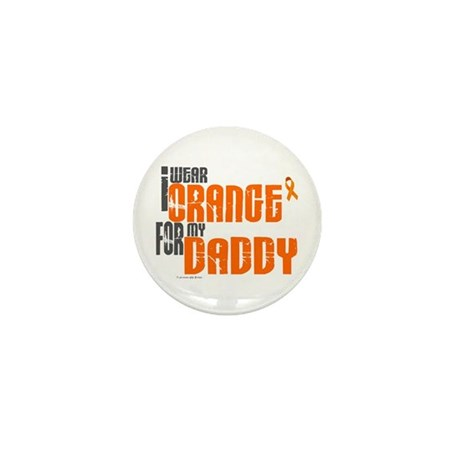I Wear Orange For My Daddy 6 Mini Button (100 pack