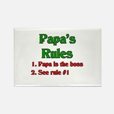 Italian Papa's Rules Rectangle Magnet