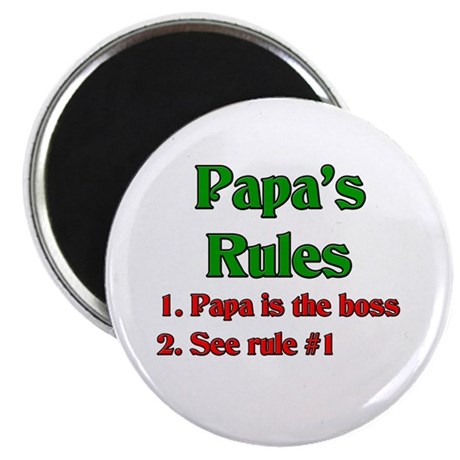 "Italian Papa's Rules 2.25"" Magnet (10 pack)"