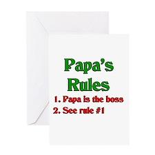 Italian Papa's Rules Greeting Card