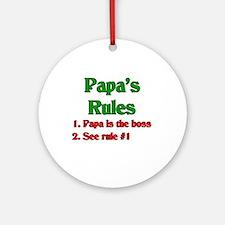 Italian Papa's Rules Ornament (Round)