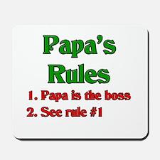 Italian Papa's Rules Mousepad