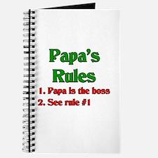 Italian Papa's Rules Journal