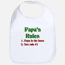 Italian Papa's Rules Bib