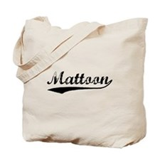 Vintage Mattoon (Black) Tote Bag