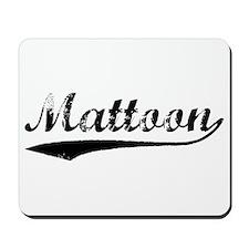Vintage Mattoon (Black) Mousepad