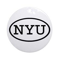 NYU Oval Ornament (Round)