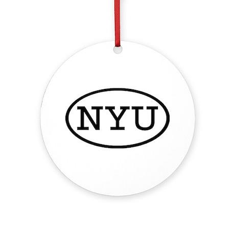 NYU Oval Ornament (Round)