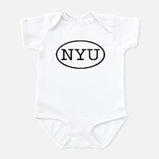 NYU Oval Infant Bodysuit