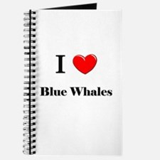 I Love Blue Whales Journal
