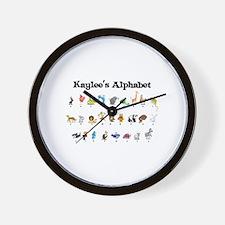 Kaylee's Animal Alphabet Wall Clock