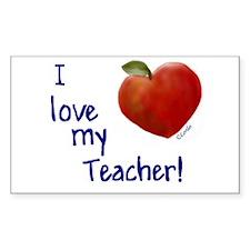 Love My Teacher Rectangle Decal
