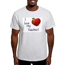 Love My Teacher Ash Grey T-Shirt