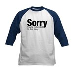 You're not invited Kids Baseball Jersey
