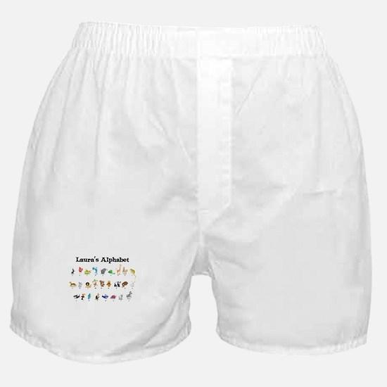 Laura's Animal Alphabet Boxer Shorts