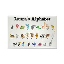 Laura's Animal Alphabet Rectangle Magnet