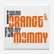 I Wear Orange For My Mommy 6 Tile Coaster