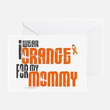 I Wear Orange For My Mommy 6 Greeting Card