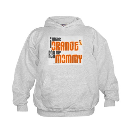 I Wear Orange For My Mommy 6 Kids Hoodie